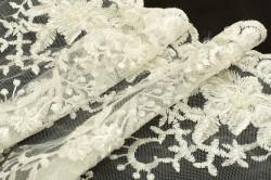 Гипюр с вышивкой и бисером - 13166 фото №4